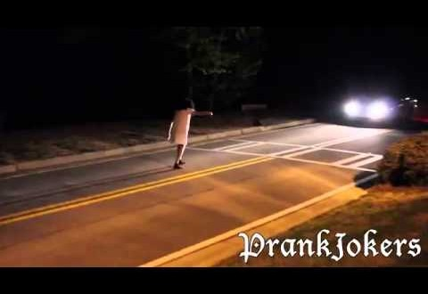 Zombie Ghost Prank Gone Wrong in the Cemetery (Prankster gets Punched)
